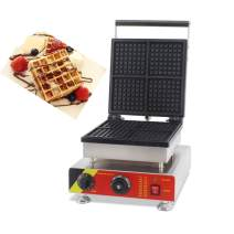 Hanchen NP-505 4pcs Commercial Waffle Maker Electric Waffle Machine No-Stick Belgian Waffle Baker 110V/220V (Rectangle)
