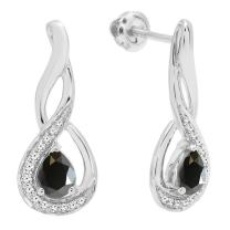 Dazzlingrock Collection 10K Ladies Infinity Drop Earrings, White Gold