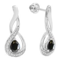 Dazzlingrock Collection 10K Ladies Infinity Drop Earrings, White Gold