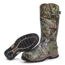 TIDEWE Rubber Hunting Boots, Waterproof Insulated Mossy Oak Country Camo Warm Rubber Boots with 6mm Neoprene, Durable Outdoor Muck Hunting Boots for Men (Size