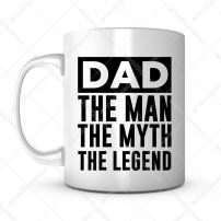 Dad The Man The Myth The Legend-Father's Day Gift Mug Ideas Funny Coffee Mug Quotes Sayings for Dad/Father in Law Birthday Gift from Son/Daughter Lead Free Ceramic 11OZ Personalized Tea Mug (1)