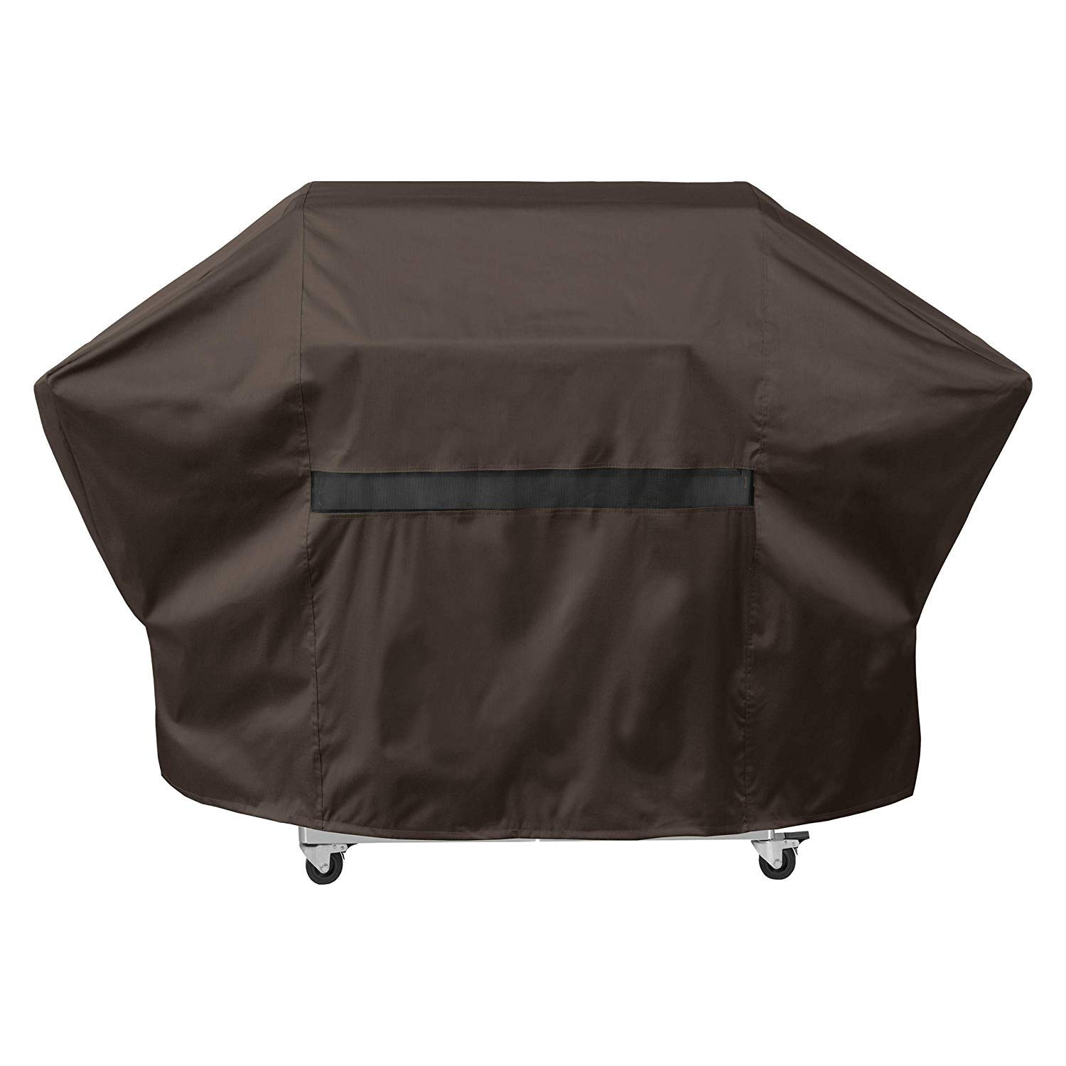 """True Guard Grill Cover Heavy Duty Waterproof - Fits 2-3 Burner Grills, 52"""" 600D Rip-Stop, Fade/Stain/UV Resistant, Dark Brown Outdoor BBQ Grill Cover"""
