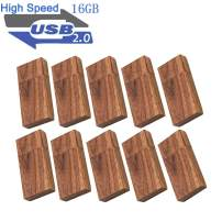 USB 16GB Flash Drive 10 Pack, EASTBULL Wooden USB Flash Drives Thumb Drives Memory Stick USB 2.0 Pen Drive for Date Storage
