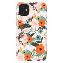 Dimaka iPhone 11 Case Cute Floral Flower Case for Girls Ultral Slim Thin Drop Proof Design Cover Bumper (Obsession Camellia)