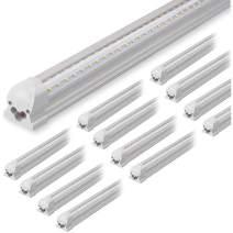 (12-Pack) Kihung 8ft LED Shop Light Fixture, 75W, 9750lm, 6000K, 96'' T8 Integrated LED Tube, 8 Foot Linkable LED Bulbs for Garage, Warehouse, V Shape, 8' LED Strip, Clear Lens, Hardwired Installation