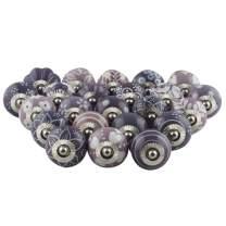 IndianShelf Handmade Assorted Pack of 15 Artistic Purple Knobs Design Drawer Knobs Handles Ceramic Cabinet Dresser Pulls Cupboard Online