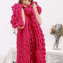 DCZTELG Handmade Chunky Knit Blanket Throw Bulky Knitting Blanket Chenille Blankets Soft Cozy Polyester (I-Crimson, 49x69in(130170cm))