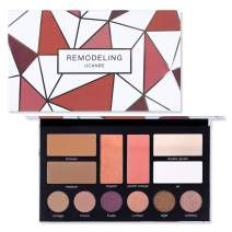 Ucanbe Remodeling Eyeshadow Bronzer Blush Highlighter Makeup Palette -6 Eyeshadows,2 Luster Blush,2 Shimmery Contour, 2 Shiny Highlighter Comestic Collection Set (Set #A)