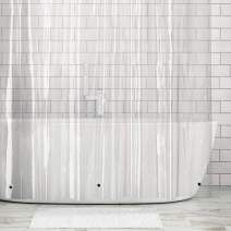 """mDesign Extra Wide Waterproof, Heavy Duty EVA Shower Curtain Liner for Bathroom Shower and Tub - No Odor, Chlorine Free - 5.5 Gauge, 108"""" x 72"""" - Clear"""