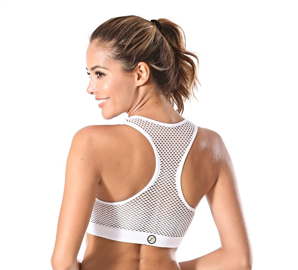 Sexy Women's Seamless Wire Free Mesh Sports Bra with Removable Pads, Fitness Workout, High Impact Sport, Yoga, Gym