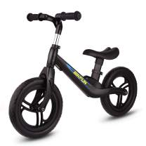 BIKFUN Kids Balance Bike Ultralight No Pedal Toddler Kid's Bicycle, 4.0 lbs 12 inch Adjustable Training Bike for 1.5, 2, 3, 4, 5 Years Old