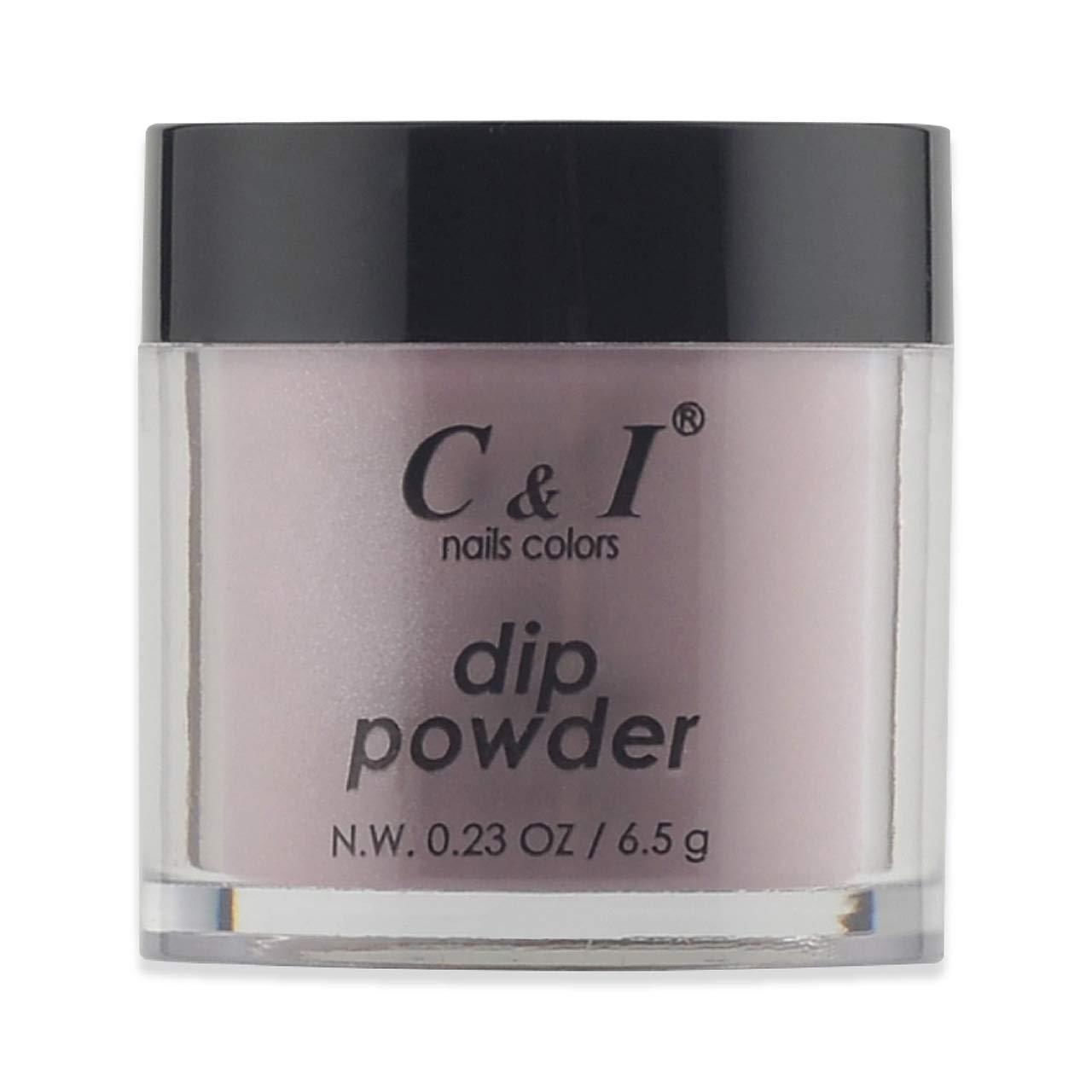 C & I Dipping Powder, Nail Colors, Gel Effect, Color # 21 Mauve, 0.23 oz, 6.5 g, Purple Color System (4 pcs)