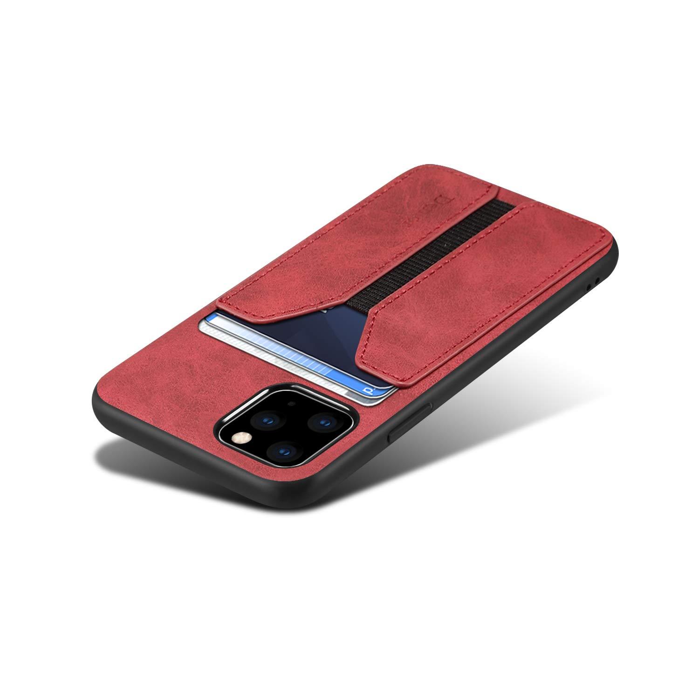 SUTENI iPhone 11 Pro Max Wallet Case, iPhone 11 Pro Max Wallet Case Slim Credit Card Slot Holder Case, PU Leather Wallet Case for iPhone 11 Pro Max 6.5 inch (Red)