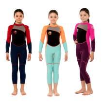 Scubadonkey 2.5mm Neoprene Full Wetsuit for Kids Girls 2020