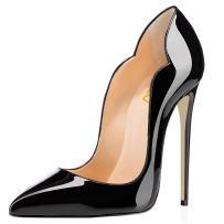 FSJ Women Classic Pointed Toe High Heels Sexy Stiletto Pumps Office Lady Dress Shoes Size 7 Black