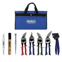 MIDWEST BUILDING Tool Kit - 8 Piece Set Includes Aviation Snips with Siding Tools & Bag - MWT-BULDKIT02