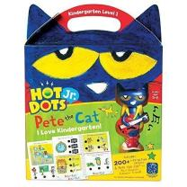 Educational Insights Hot Dots Jr. Pete The Cat - I Love Kindergarten Set with Interactive Pen Included, 200+ Multi-Subject Activities, Homeschool, Ages 5+