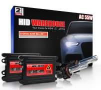 HID-Warehouse 55W AC Xenon Bundle with Slim AC Ballast (1 Pair) - 5202/12086 6000K - 6K Light Blue Xenon Bulbs (1 Pair)