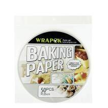 WRAPOK 10 Inch Bamboo Steamer Paper Round Perforated Parchment Air Fryer Liner Non-stick 50 Count for Baking Steaming Basket Cooking Cake Pans Circle