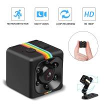 Mini Cop Spy Cam As Seen On TV 1080P Spy Hidden Camera Nanny Cam with Night Vision and Motion Detection Wireless Wearable Spy Body Camera Security Surveillance for Home Car Office Indoor and Outdoor