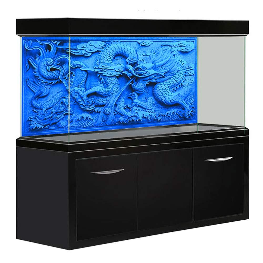 Amakunft Aquarium Background HD Grey Dragon Double Sides Fish Tank Decoration