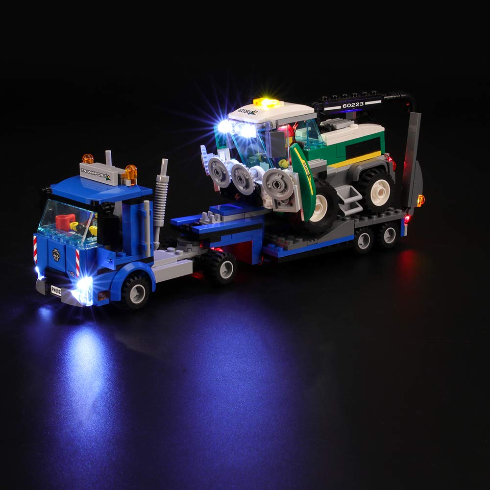BRIKSMAX Led Lighting Kit for City Great Vehicles Harvester Transport - Compatible with Lego 60223 Building Blocks Model- Not Include The Lego Set