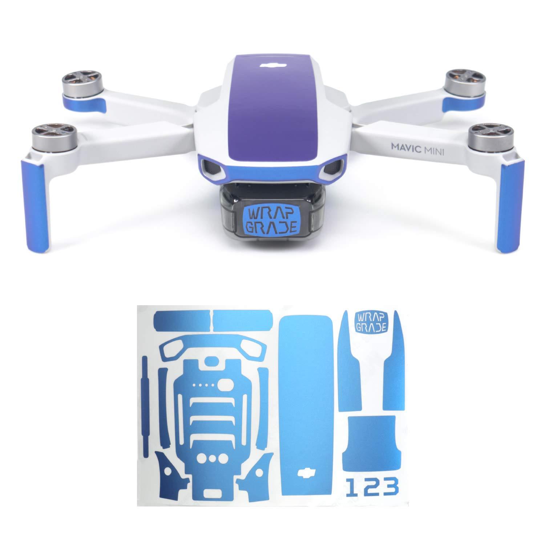 Wrapgrade Skin Compatible with DJI Mavic Mini | Accent Color (Celeste Blue)