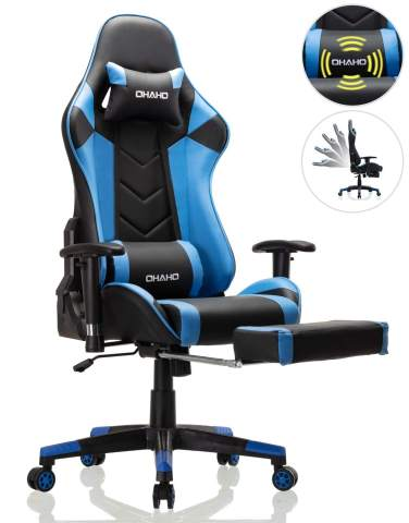 Heavy Duty Office Sport Racing Game Chair With Arm Computer Adjust Seats Swivel