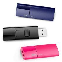 Silicon Power 8GB 3-Pack Ultima U05 USB 2.0 Flash Drive, Blue/Pink/Black (SP024GBUF2U05VCM)