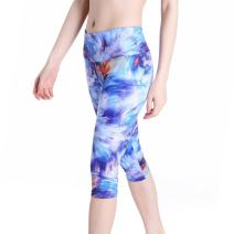 Picotee Women's Digital Printed Yoga Capris High Waist Workout Pants Running Leggings with Hidden Pocket