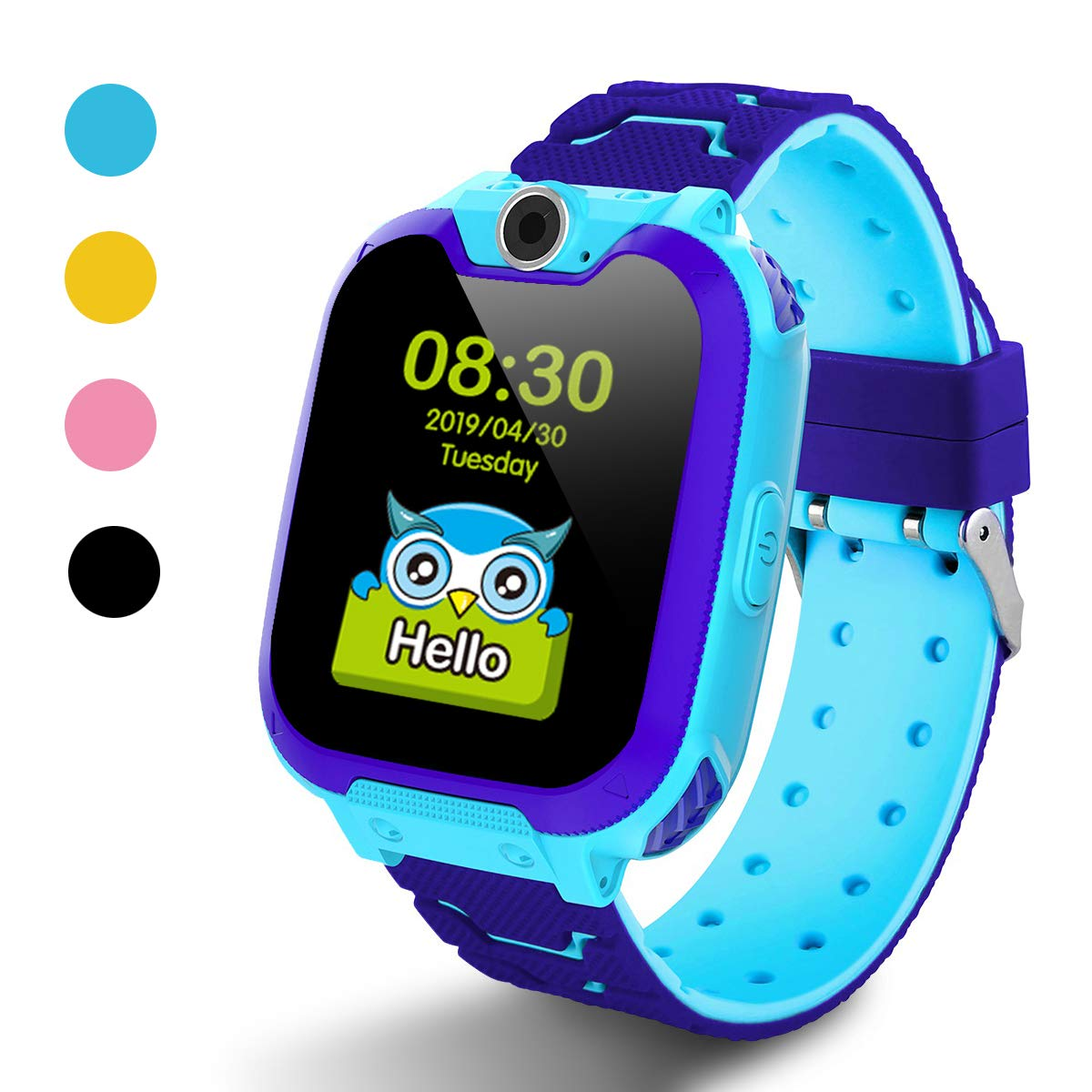 Kids Smart Watch for Boys Girls - Kids Watches with Games - 1.44'' HD Touch Screen for Children with SOS Call Camera Music Player Game Alarm (Blue)