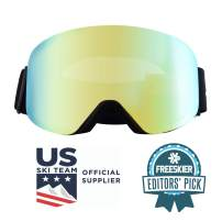 Zipline Podium XT Ski Goggles - No Fog Interchangeable Magnetic Lenses with RipClear Lens Protection Film - US Ski Team Official Supplier