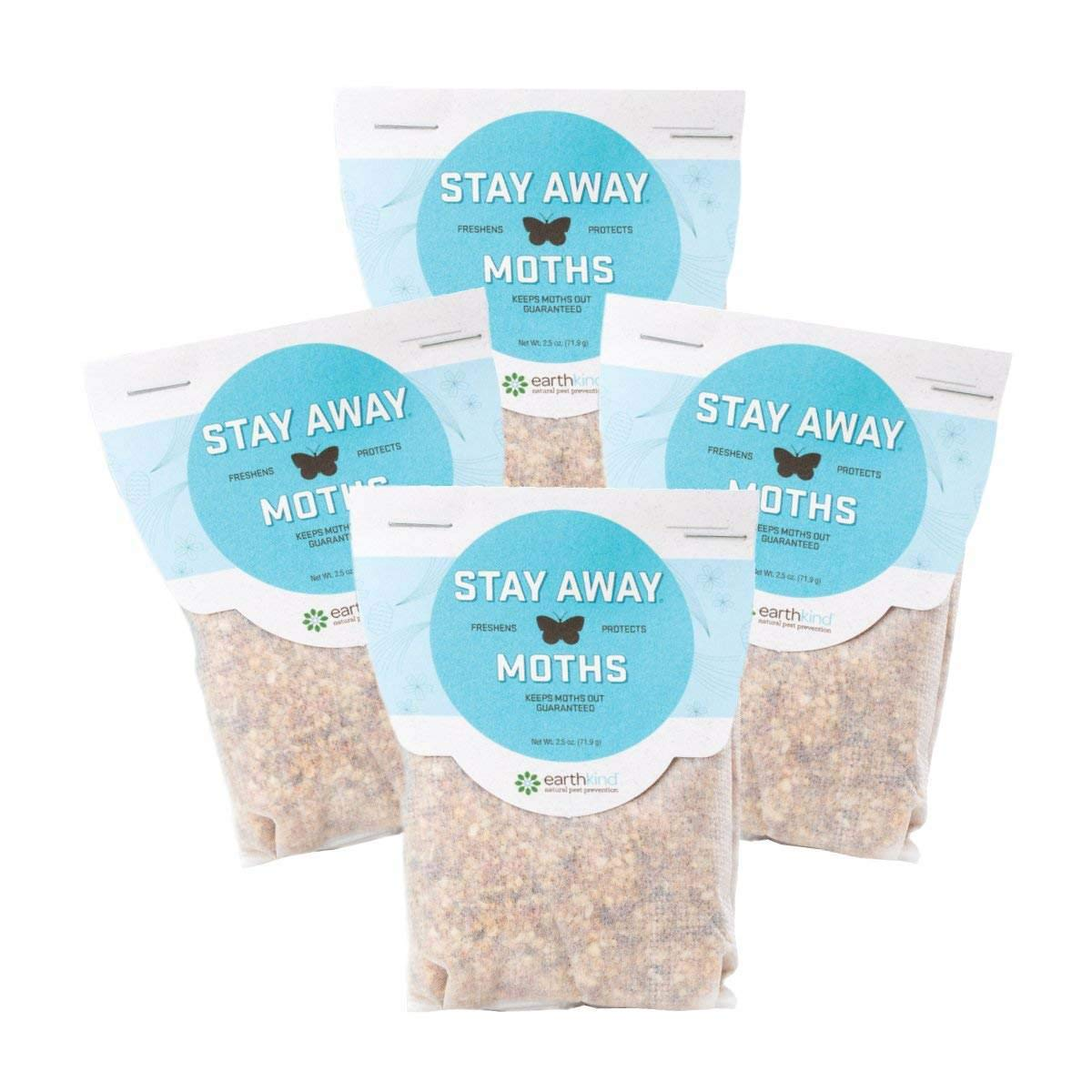Stay Away Moths Repellent Pest Control Scent Pouches - All Natural, No Mess, and Environmentally Friendly, 4-Pack (Not for Sale in Puerto Rico)