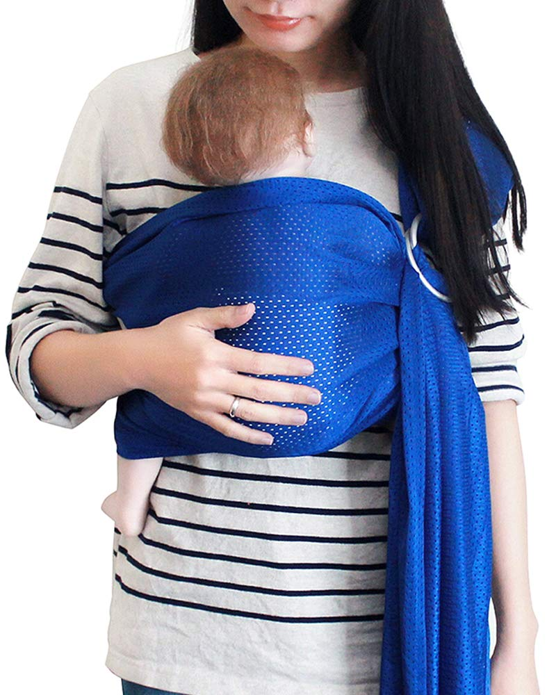 Vlokup Baby Water Ring Sling Carrier | Lightweight Breathable Mesh Baby Wrap for Infant, Newborn, Kids and Toddlers | Perfect for Summer, Swimming, Pool, Beach | Great for Dad Too Royal Blue