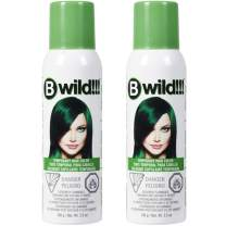 Jerome Russell B Wild!!! Temporary Hair Color Spray, Jaguar Green, 3.5 oz, 2-Pack