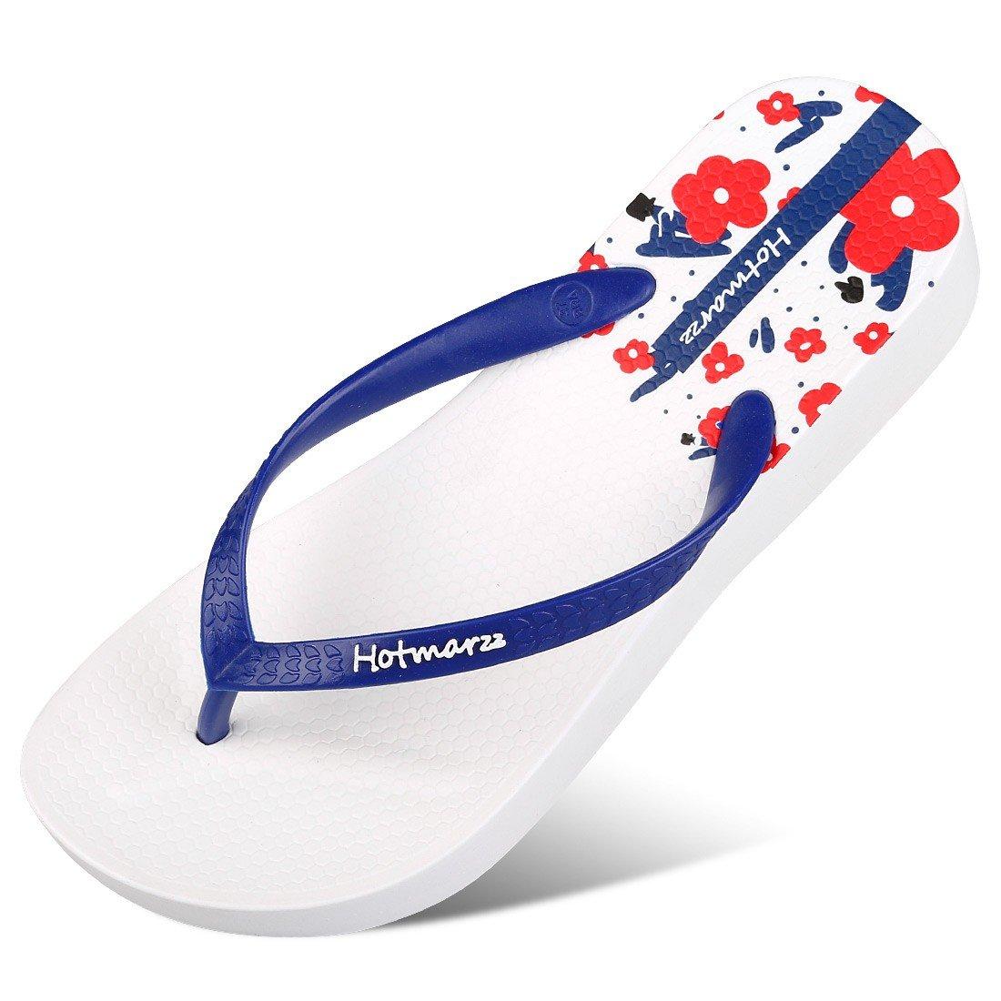 Hotmarzz Women's Fashion High Heel Stylish Platform Flip Flops Wedge Sandals Summer Beach Slippers