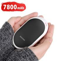BiMONK Rechargeable Hand Warmer with 7800mAh Battery, 2in1 Portable Double-Sided Pocket Warmer, 3 Heat Levels & Fast Heating, Battery Operated Mini USB Heater, Great for Winter Sports Events Reynauds