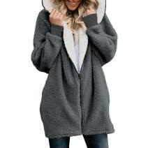 Sunhusing Women's Winter Fluffy Double-Face Fleece Zip Pullover Fashion Hoodie Warm Jacket