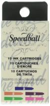 Speedball 002906 Fountain Pen Ink Cartridges - Assorted Colors - Cartridges for Speedball Fountain Pens -10 Assorted Colors