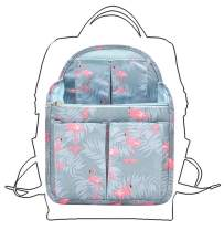 Surblue Bag in Bag Storage Packing Cubes Backpack&Luggage Organizer Travel Accessory Flamingo-M