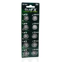 GloFX CR 1620 3v Batteries - 10 Pack - Button Coin Lithium Watch Battery Key fob