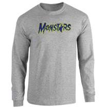 Pop Threads Monstars Basketball Halloween Costume Full Long Sleeve Tee T-Shirt