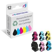 HOTCOLOR 12PK 02XL Remanufactured Replacement for HP 02XL Ink Cartridge for HP PhotoSmart D7260 D7460 D7245 D7255 D7263 D7268 D6160 D7155 Printer (2BK,2C,2M,2Y,2LC,2LM)