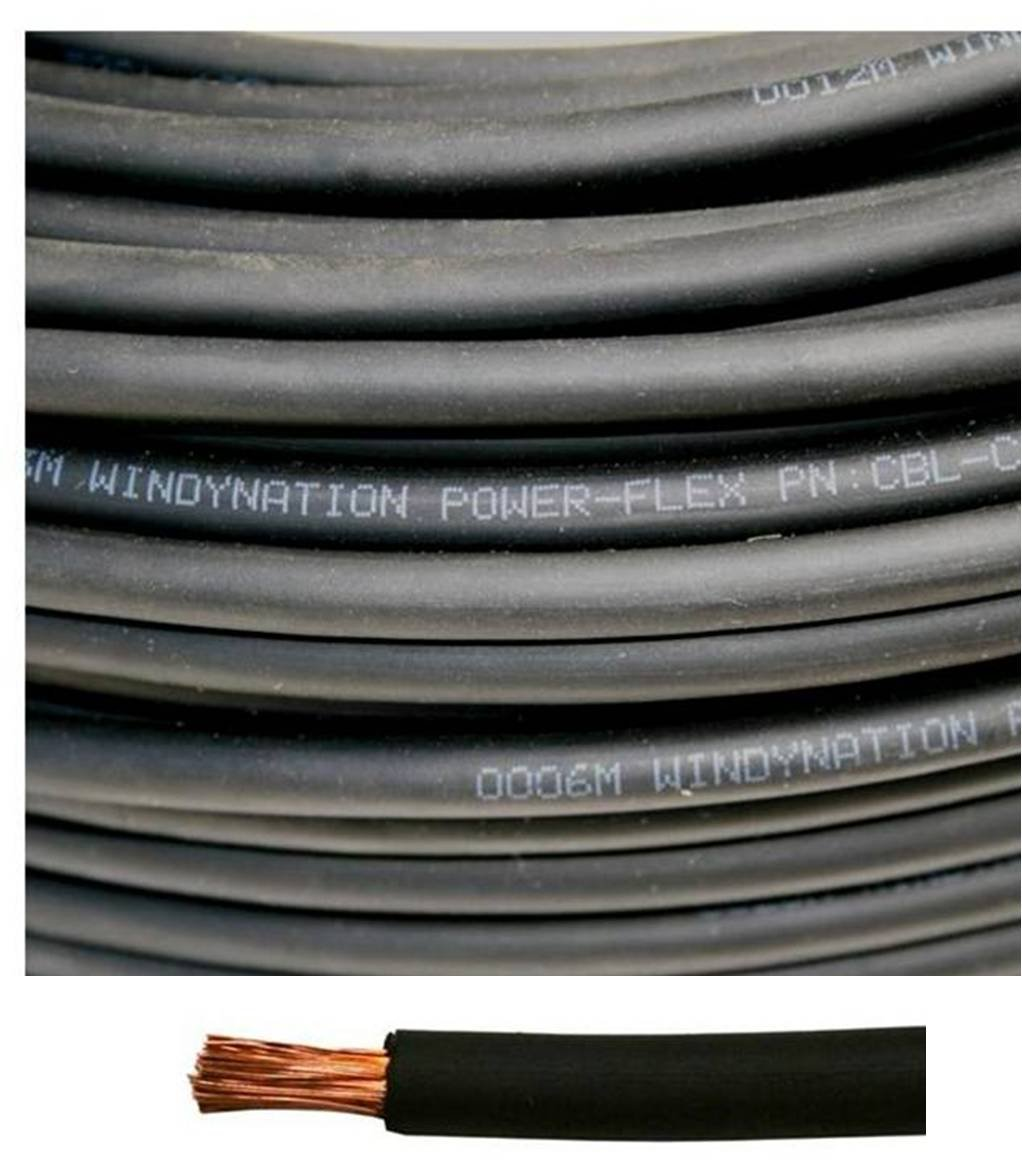 Variety of Lengths Available Inverter TEMCo 12 AWG//Gauge Solar Cable Car RV Made in The USA 100 Feet Black Welding