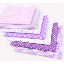 Floral Cotton Fabric Textile Quilting Patchwork Fabric Fat Quarter Bundles Fabric for Scrapbooking Cloth Sewing DIY Crafts Pillows 50X50cm 7pcs/lot