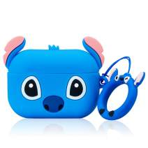 Gift-Hero Classic Stitch Case for Airpods Pro/for Airpods 3, Cartoon Funny Cute Design for Girls Boys Kids, Unique Carabiner Protective Fun Fashion Character Skin Soft Silicone Cover for Air pods 3