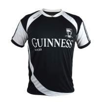 Guinness Soccer Jersey - Black/White Polyester Athletic Short Sleeve Shirt