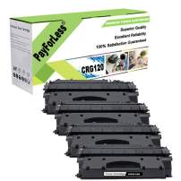 PayForLess Cartridge 120 CRG120 Toner Cartridge Black 4PK Compatible for Canon ImageClass D1320 D1350 D1370 D1550 D1520 D1120 D1150 D1180 with Chip