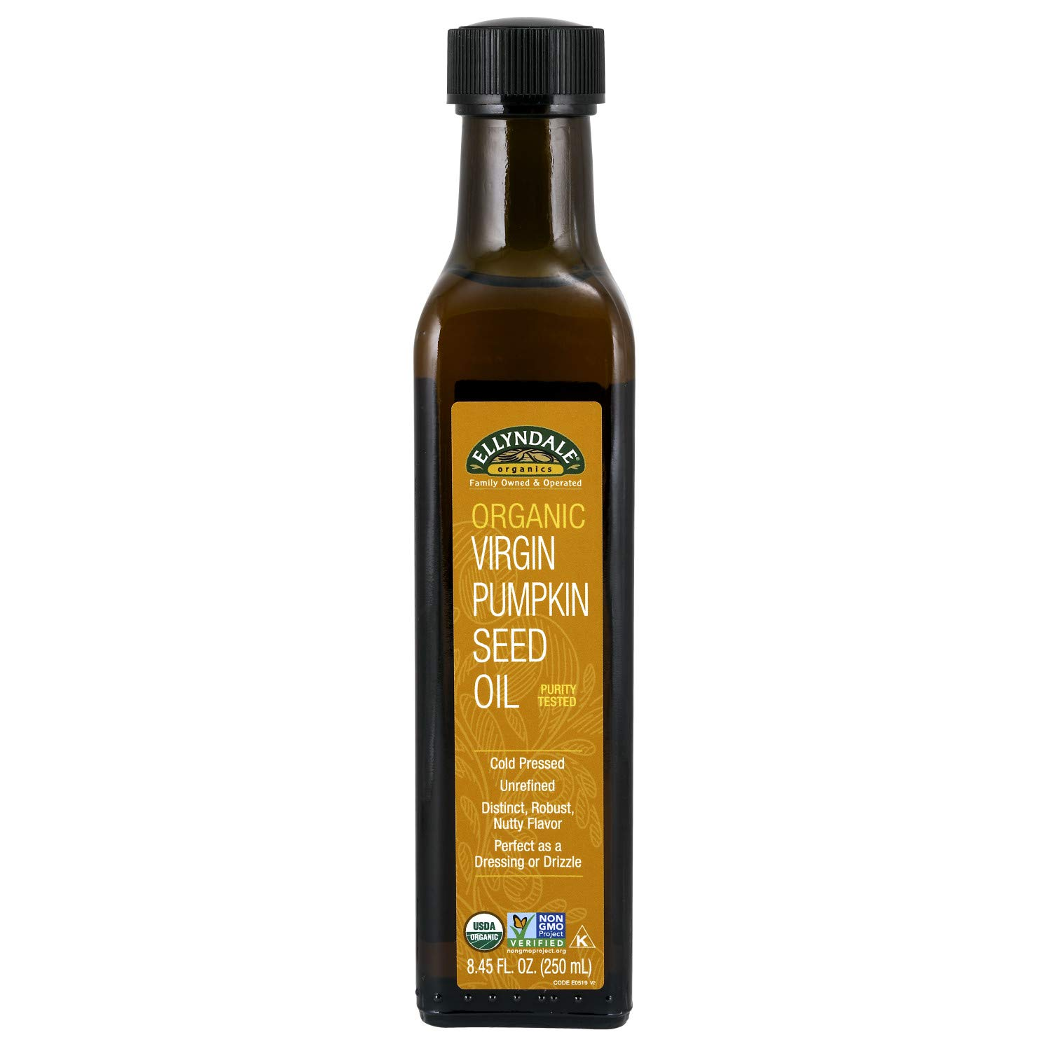 NOW Foods, Organic Virgin Pumpkin Seed Oil, Cold-Pressed, Unrefined, Distinct Robust, Nutty Flavor, Certified Non-GMO, 8.45-Ounce