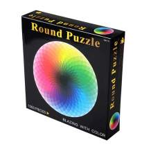 Joeoy 1000 Piece Puzzles for Adults Teen - Gradient Color Rainbow Large Round Jigsaw Puzzles